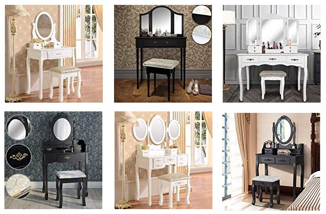 coiffeuse meuble design pas cher coiffeuse blanche. Black Bedroom Furniture Sets. Home Design Ideas