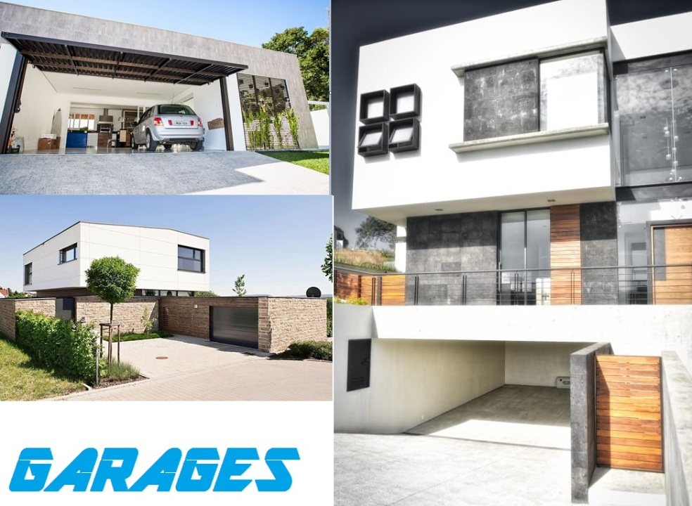Garage maison moderne design pas cher accole independant amenagement contemporain bois for Maison contemporaine pas cher