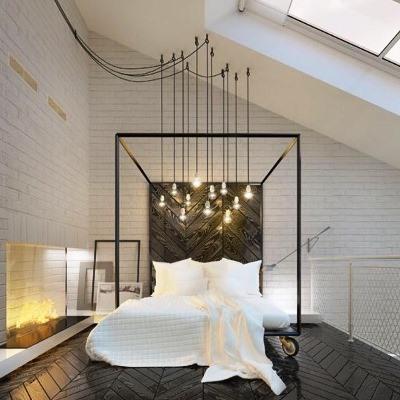 Lit design pas cher discount cuir blanc design led for Chambre moderne pas cher