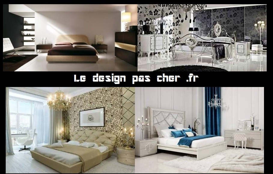 Lit Design Pas Cher Discount Cuir Blanc Design Led