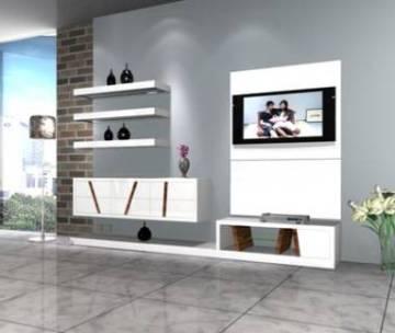 Meuble tv design pas cher meuble tv bois blanc noir - Meuble tv blanc laque pas cher ...