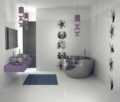 Salle de bains design pas cher baignoire douche - Faience salle de bain design ...