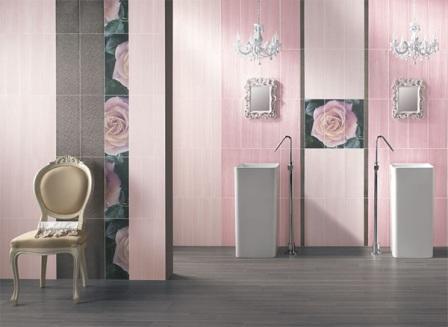 Carrelage Salle De Bain Rose. Gallery Of Deco Cuisine Rose Pale ...