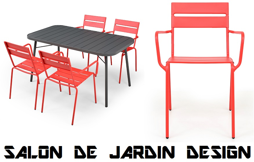 salon de jardin design pas cher table et chaise en. Black Bedroom Furniture Sets. Home Design Ideas