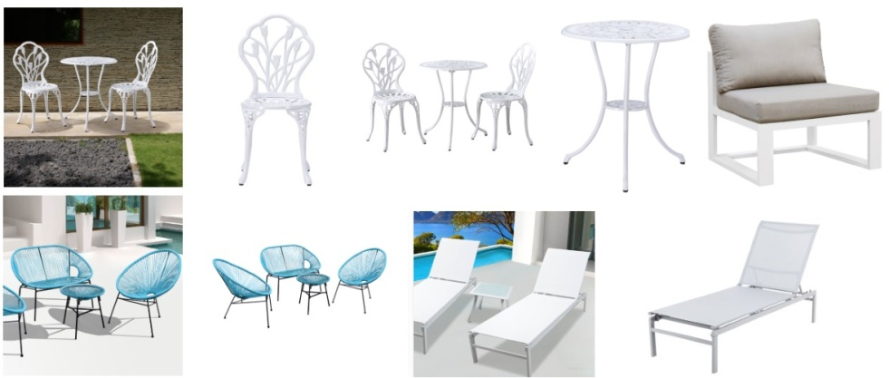 Salon de jardin design pas cher table et chaise en for Salon design pas cher