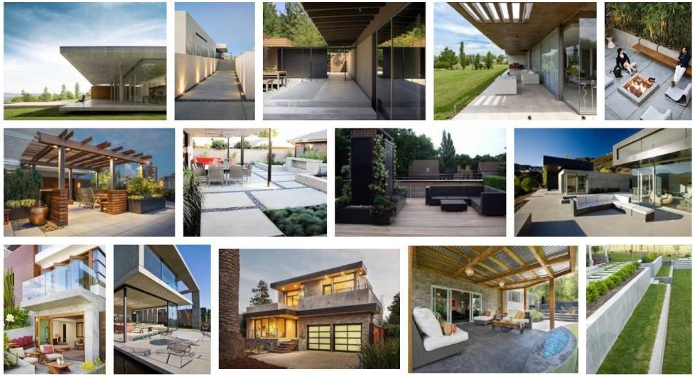 terrasse en bois composite ou exotique design pas cher id e terrasse contemporaine exterieur. Black Bedroom Furniture Sets. Home Design Ideas