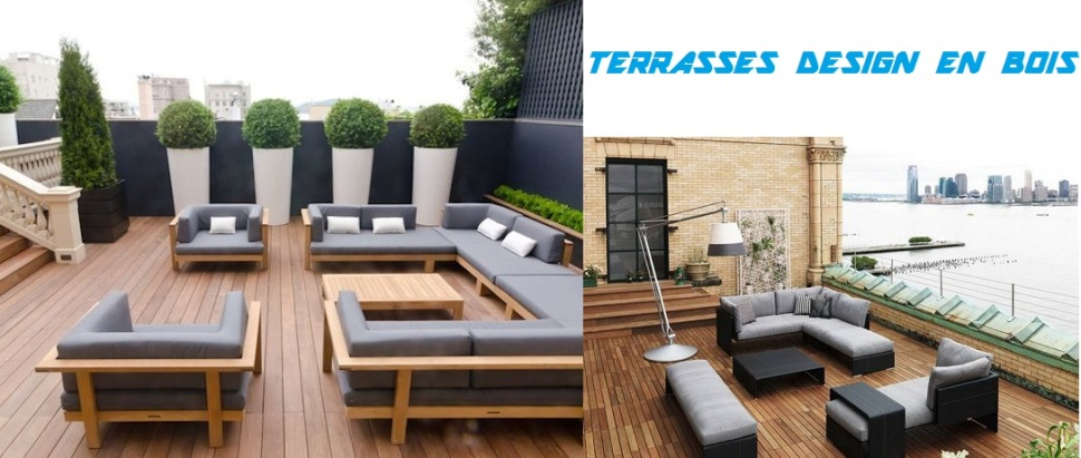 terrasse en bois composite ou exotique design pas cher id e terrasse contemporaine exterieur. Black Bedroom Furniture Sets. Home Design Ideas